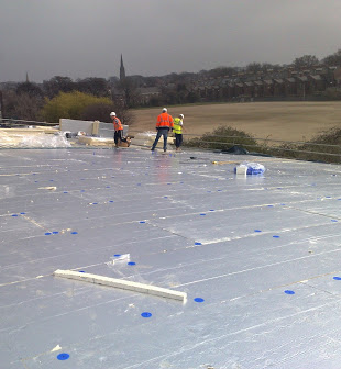 curved singleply roof